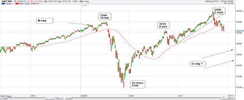 Graf av S&P ger upp